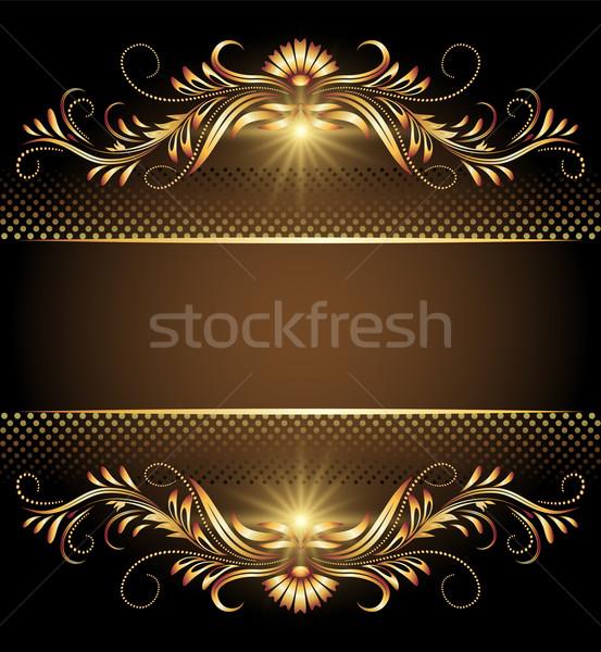 Background with stars and golden ornament Stock photo © Marisha