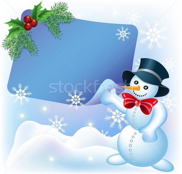 Christmas greetings card Stock photo © Marisha