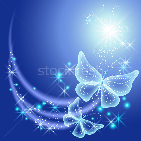 Butterflies and stars Stock photo © Marisha