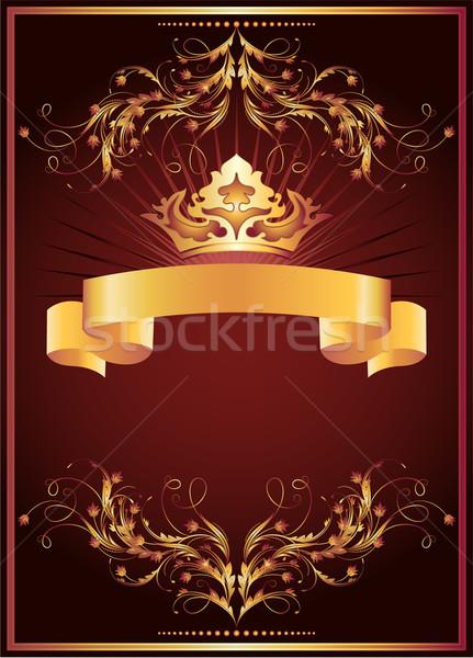 Luxueus gouden ornament kroon ontwerp frame Stockfoto © Marisha