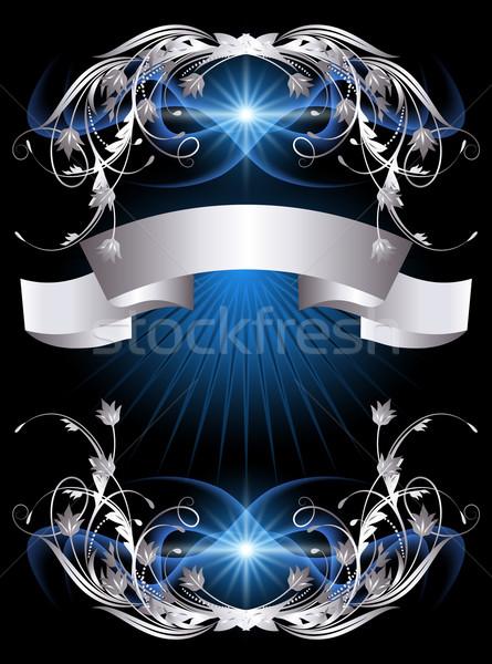 Background with silver ornament Stock photo © Marisha