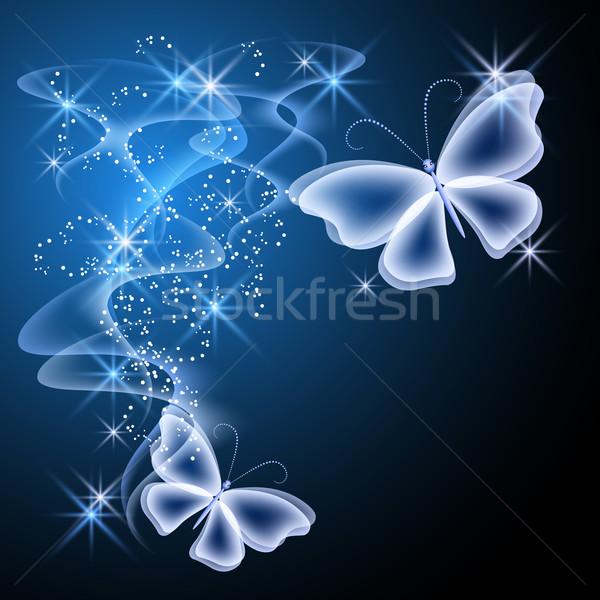 Fumo farfalle design stelle volare Foto d'archivio © Marisha