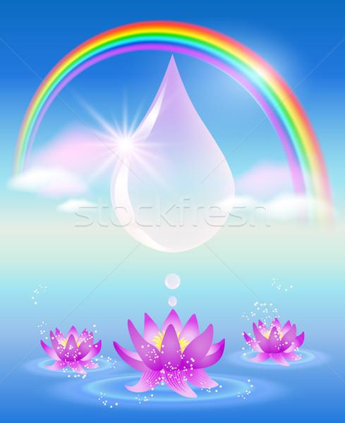シンボル 清浄水 虹 水滴 雲 ユリ ストックフォト © Marisha