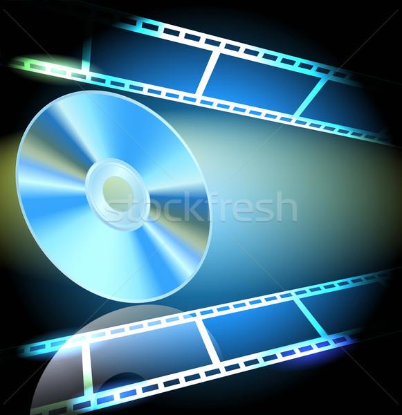 DVD and filmstrip Stock photo © Marisha