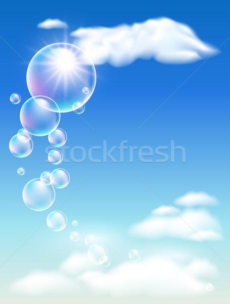 Clouds  and  bubbles Stock photo © Marisha
