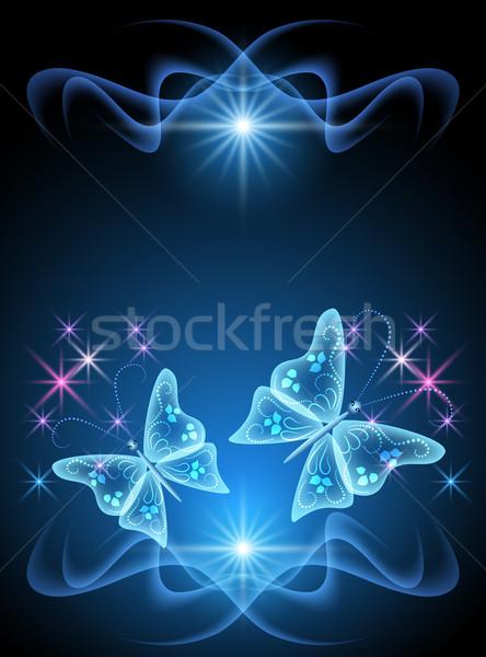 Transparent butterfly and stars Stock photo © Marisha