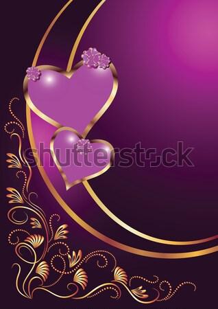 Decorativo cuori carta fiori abstract cuore Foto d'archivio © Marisha