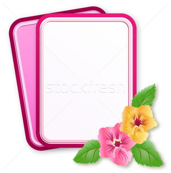 Greeting card with pansies   Stock photo © Marisha