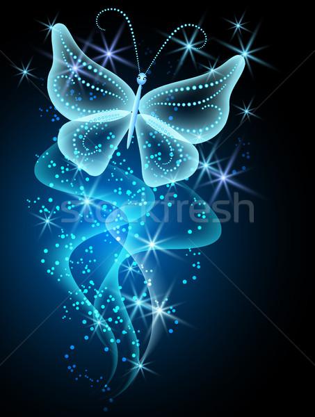 Smoke and butterfly Stock photo © Marisha