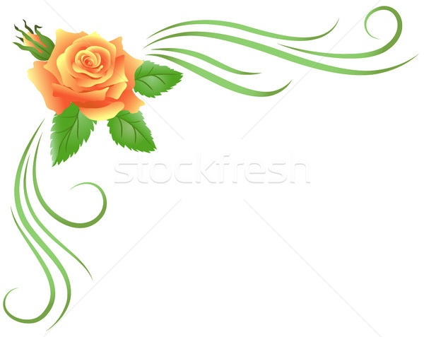Corner floral ornament Stock photo © Marisha