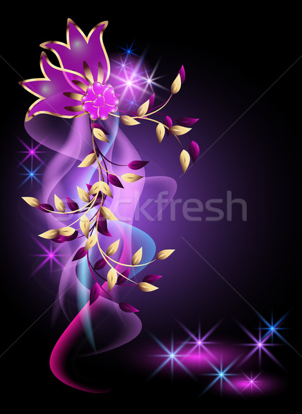 Glowing background with flowers Stock photo © Marisha