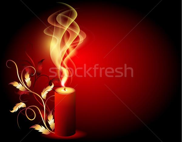 Brucia candela fumo ornamento design Foto d'archivio © Marisha