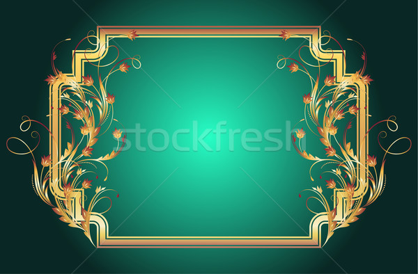 Background with golden ornament   Stock photo © Marisha