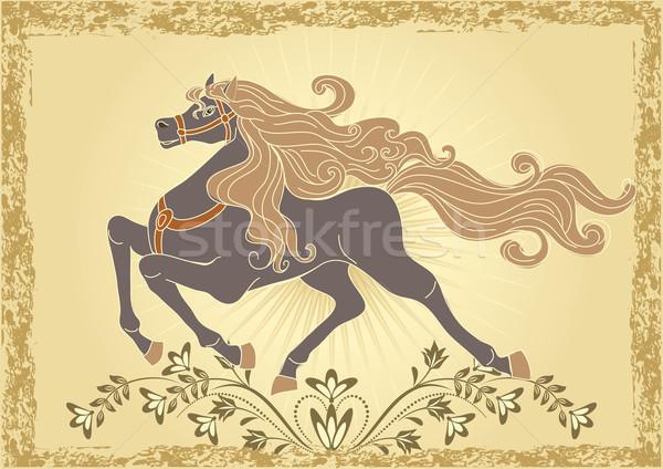 Background with horse Stock photo © Marisha