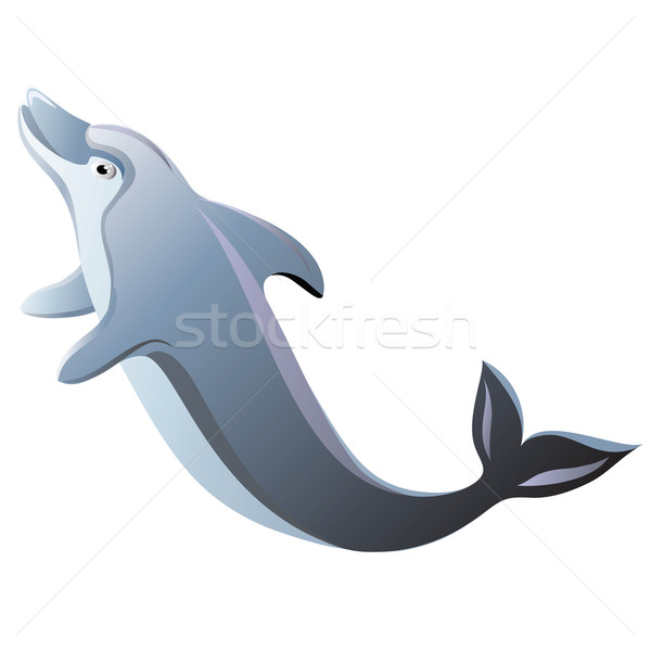 Delfin odizolowany wody skok zwierząt morskich Zdjęcia stock © Marisha