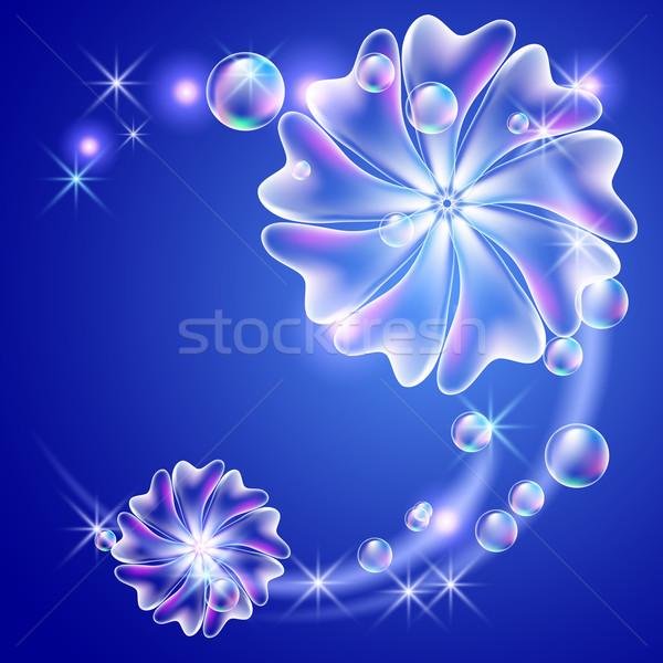 Flowers and bubbles  Stock photo © Marisha