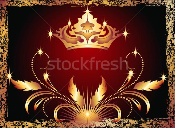Lujoso cobre ornamento corona diseno marco Foto stock © Marisha