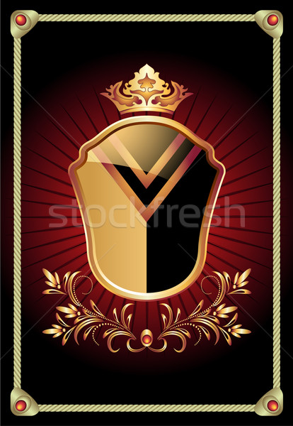 Heraldic shield ornate golden ornament  Stock photo © Marisha