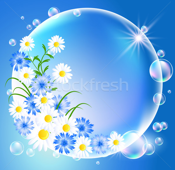 Bubbles with flowers Stock photo © Marisha