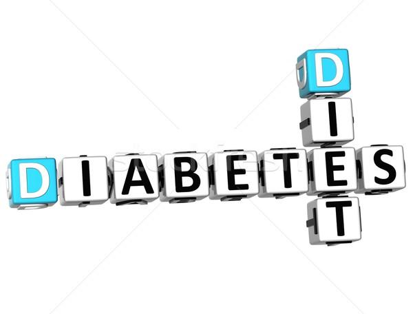 3D 糖尿病 ダイエット クロスワード 白 医療 ストックフォト © Mariusz_Prusaczyk