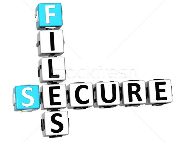 3DSecure File Crossword Stock photo © Mariusz_Prusaczyk