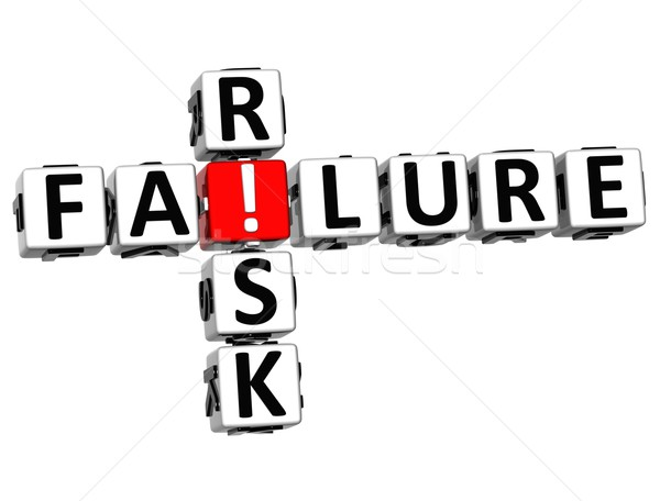 3D Failure Risk Crossword Stock photo © Mariusz_Prusaczyk