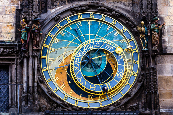 Detail of the Prague Astronomical Clock (Orloj) in the Old Town of Prague  Stock photo © Mariusz_Prusaczyk