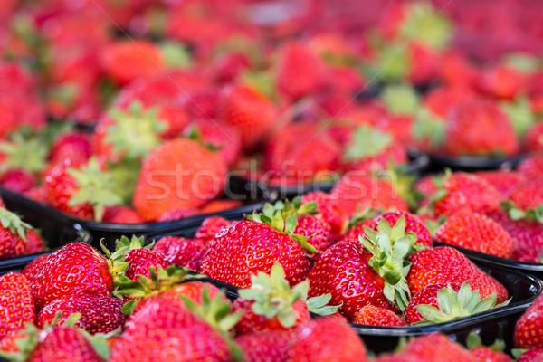 Fraîches fraises rue marché alimentaire nature Photo stock © Mariusz_Prusaczyk
