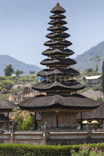Híres templom tó Bali Indonézia tájkép Stock fotó © Mariusz_Prusaczyk