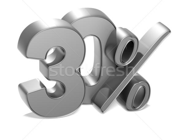 3D 30 százalék fehér üzlet pénz Stock fotó © Mariusz_Prusaczyk