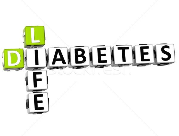 3D Diabetes Life Crossword Stock photo © Mariusz_Prusaczyk