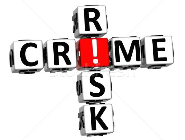 3D Crime Risk Crossword Stock photo © Mariusz_Prusaczyk