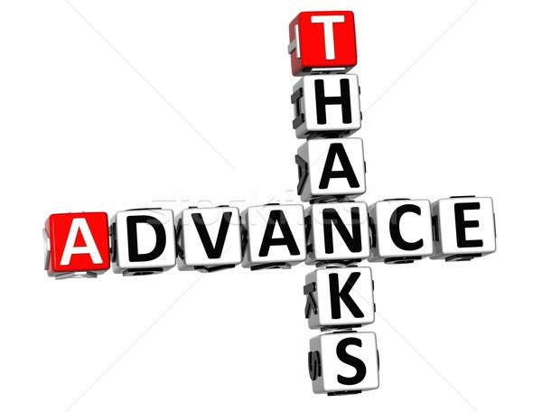 3D Advance Thanks Crossword text Stock photo © Mariusz_Prusaczyk