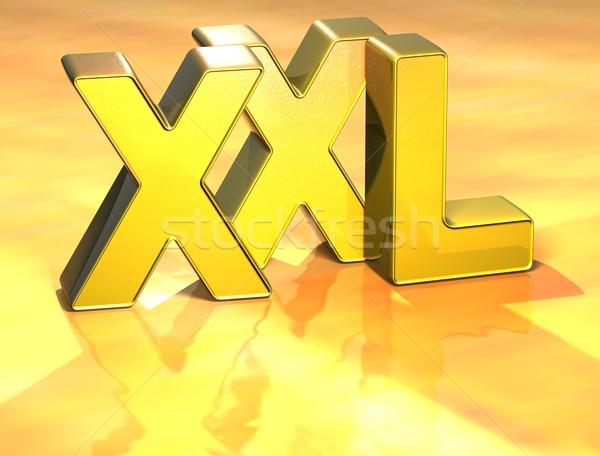 3D Word XXL on gold background Stock photo © Mariusz_Prusaczyk