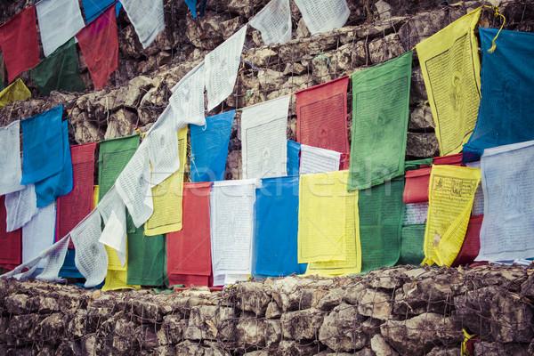 Swayambhunath stupa in Kathmandu, Nepal Stock photo © Mariusz_Prusaczyk