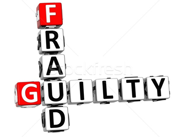 3D Guilty Fraud Crossword Stock photo © Mariusz_Prusaczyk