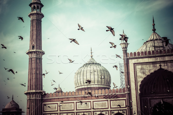 Stock photo: Famous Jama Masjid Mosque in old Delhi, India.