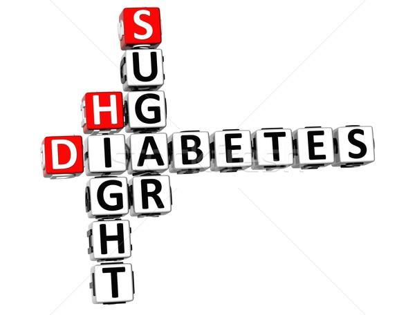 3D diabète sucre mots croisés blanche médicaux Photo stock © Mariusz_Prusaczyk