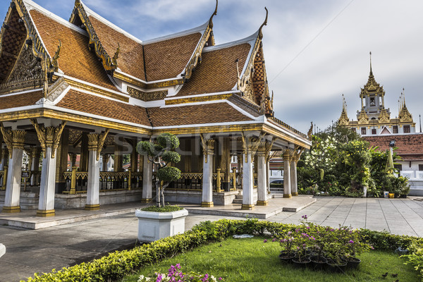 Metaal paleis Bangkok thai Thailand kasteel Stockfoto © Mariusz_Prusaczyk