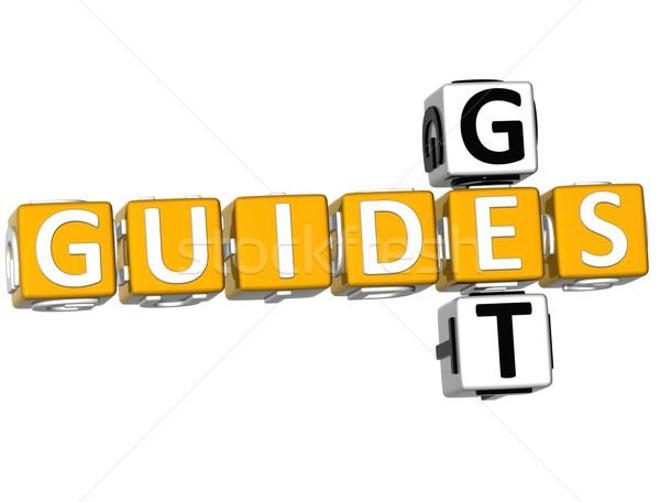 3D Get Guides Crossword Stock photo © Mariusz_Prusaczyk