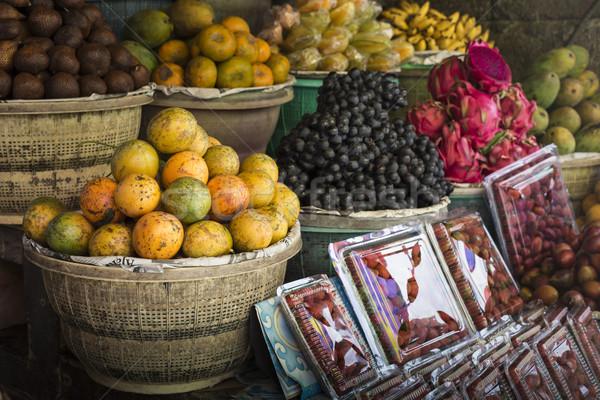 Open lucht vruchten markt dorp bali Stockfoto © Mariusz_Prusaczyk