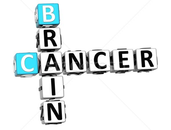 Stok fotoğraf: 3D · kanser · beyin · bulmaca · beyaz · tıbbi