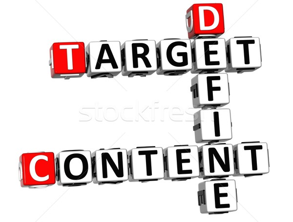 3D Define Target Content Crossword Stock photo © Mariusz_Prusaczyk