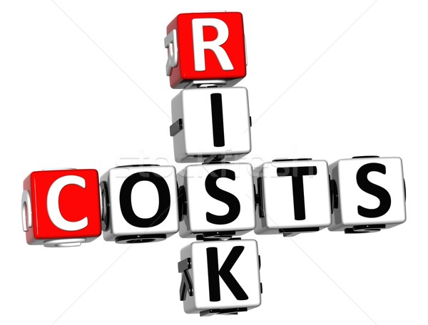 3D Costs Risk Crossword cube words Stock photo © Mariusz_Prusaczyk
