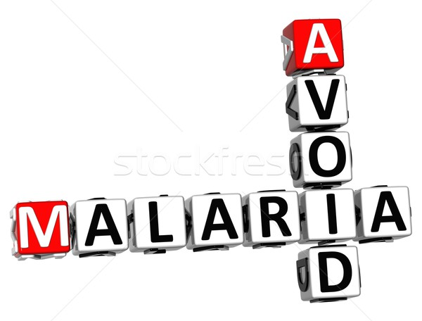 3D malária palavras cruzadas texto branco negócio Foto stock © Mariusz_Prusaczyk