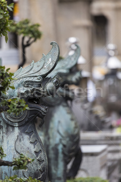 лев опекун храма Бангкок здании путешествия Сток-фото © Mariusz_Prusaczyk