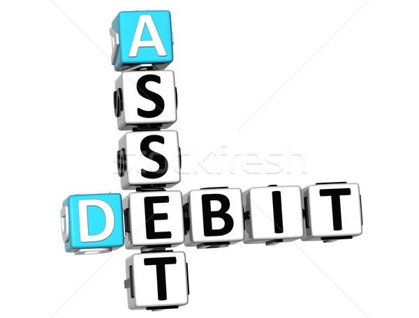 3D di debito cruciverba testo bianco Foto d'archivio © Mariusz_Prusaczyk