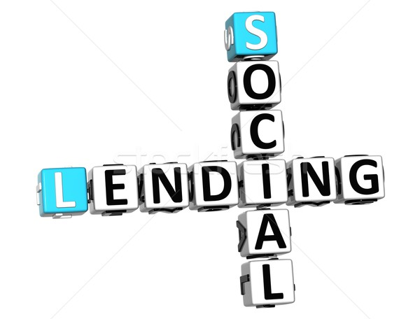 3D Social Lending Crossword text Stock photo © Mariusz_Prusaczyk