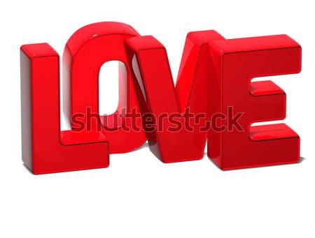 3D Word Love on white background Stock photo © Mariusz_Prusaczyk