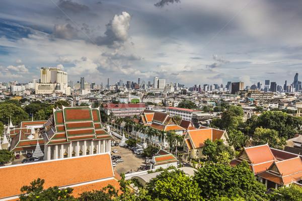 Bangkok Cityscape Tajlandia piękna niebo działalności Zdjęcia stock © Mariusz_Prusaczyk